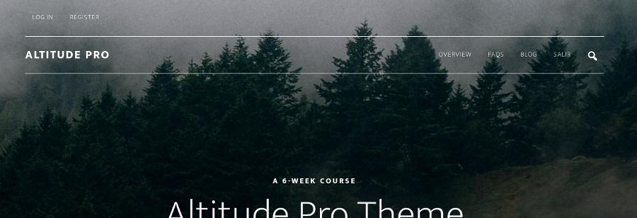 Menú sobre la cabecera de Altitude Pro Theme