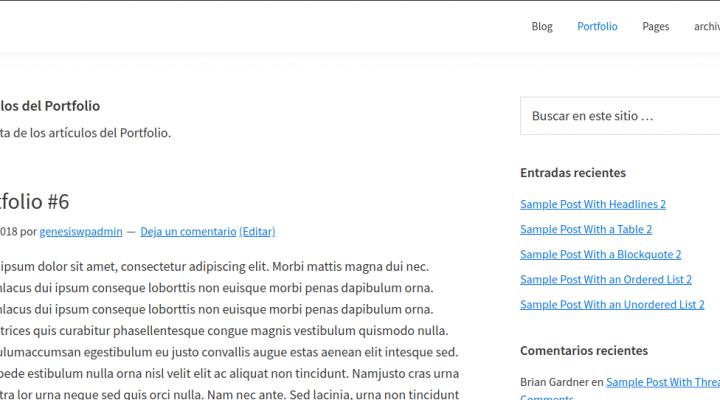 Título y descripción del arhivo del portfolio