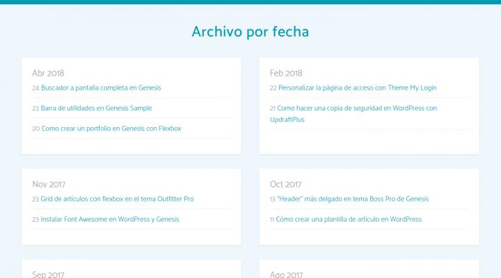 Archivo de artículos por fecha en luiscolome.com