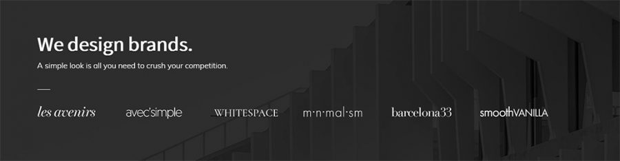 Bloque de marcas relacionadas en Monochrome Pro WordPress Theme