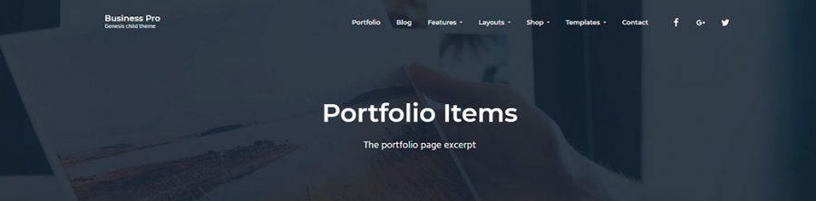 Cabeceras con imagen en Business Pro Theme