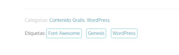 Etiquetas sin comas en Genesis Framework