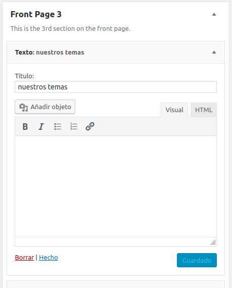 Ajsute s widget en Front Page 2 del tema Boss Pro