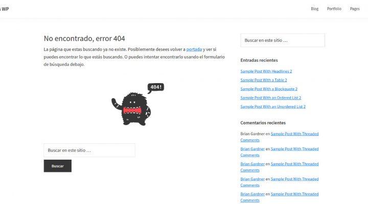 Página 404 de Genesis sin sitemap