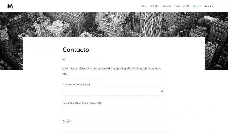 Páginas con imágen destacada en la cabecera en Monochrome Pro