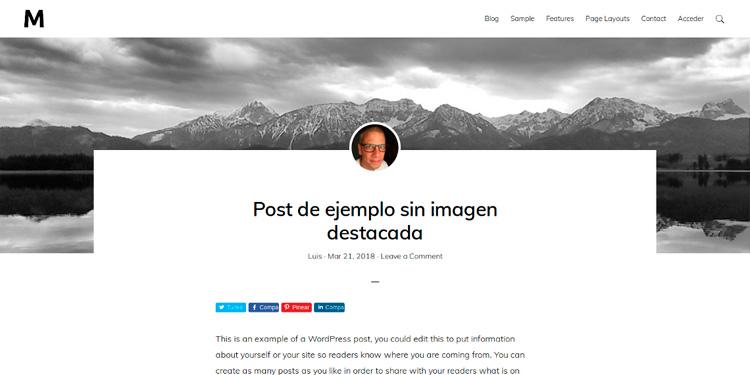 Post sin imagen destacada en Monochrome Pro