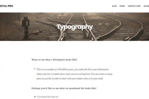 Título de página con imágen destacada de fondo en Digital Pro